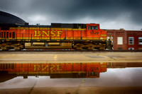 BNSF 5528 with Reflection - 2